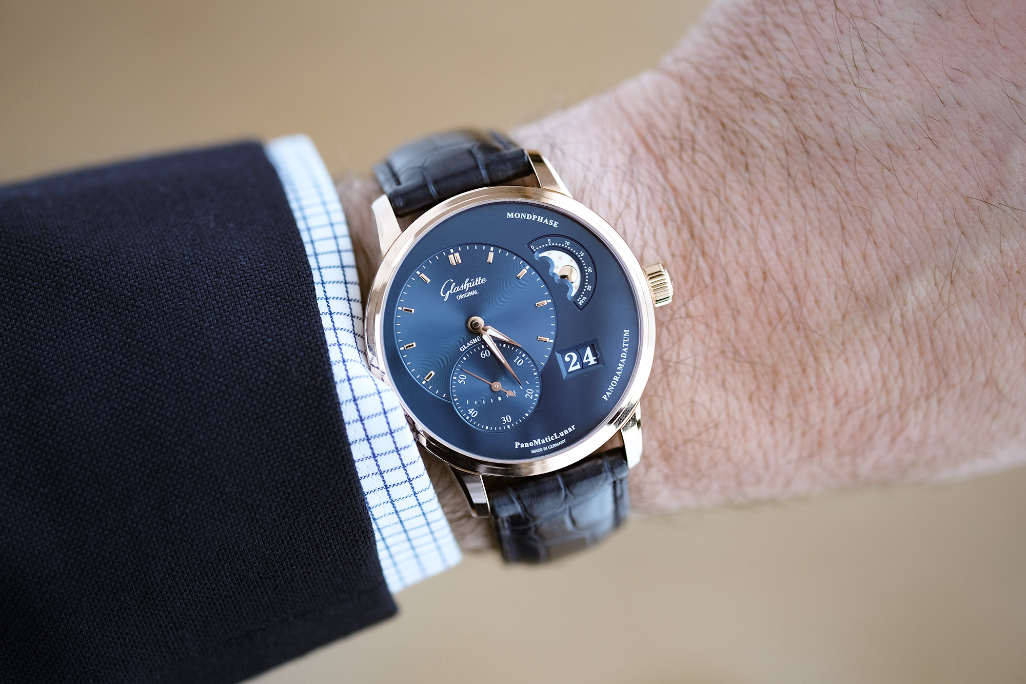 Hands On Glashutte Original Panomaticlunar Video Atelier De Griff